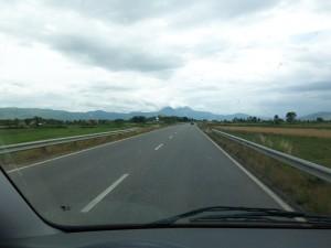 Auf dem Weg nach Tirana