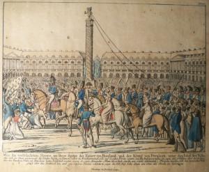 Befreiung von Paris durch Kosaken 1814 Archiv des Verfassers