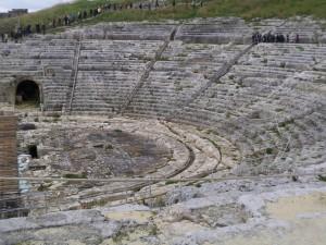Amphitheater in Syrakus Foto: Birgit Helk