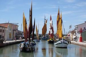 Historische Boote in Cesenatico, Foto: Prabel